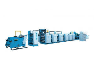 Unit type flexographic printing machine without roller replacement