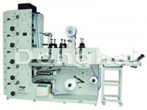 Flexo Printing Machine with Tripe Rotary Die Cutting Stations, ZBS-450G