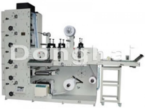 Flexo Printing Machine with Tripe Rotary Die Cutting Stations, ZBS-320G