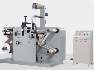 Label Slitter Rewinder with Rotary Die Cutter, FQ-330R/450R